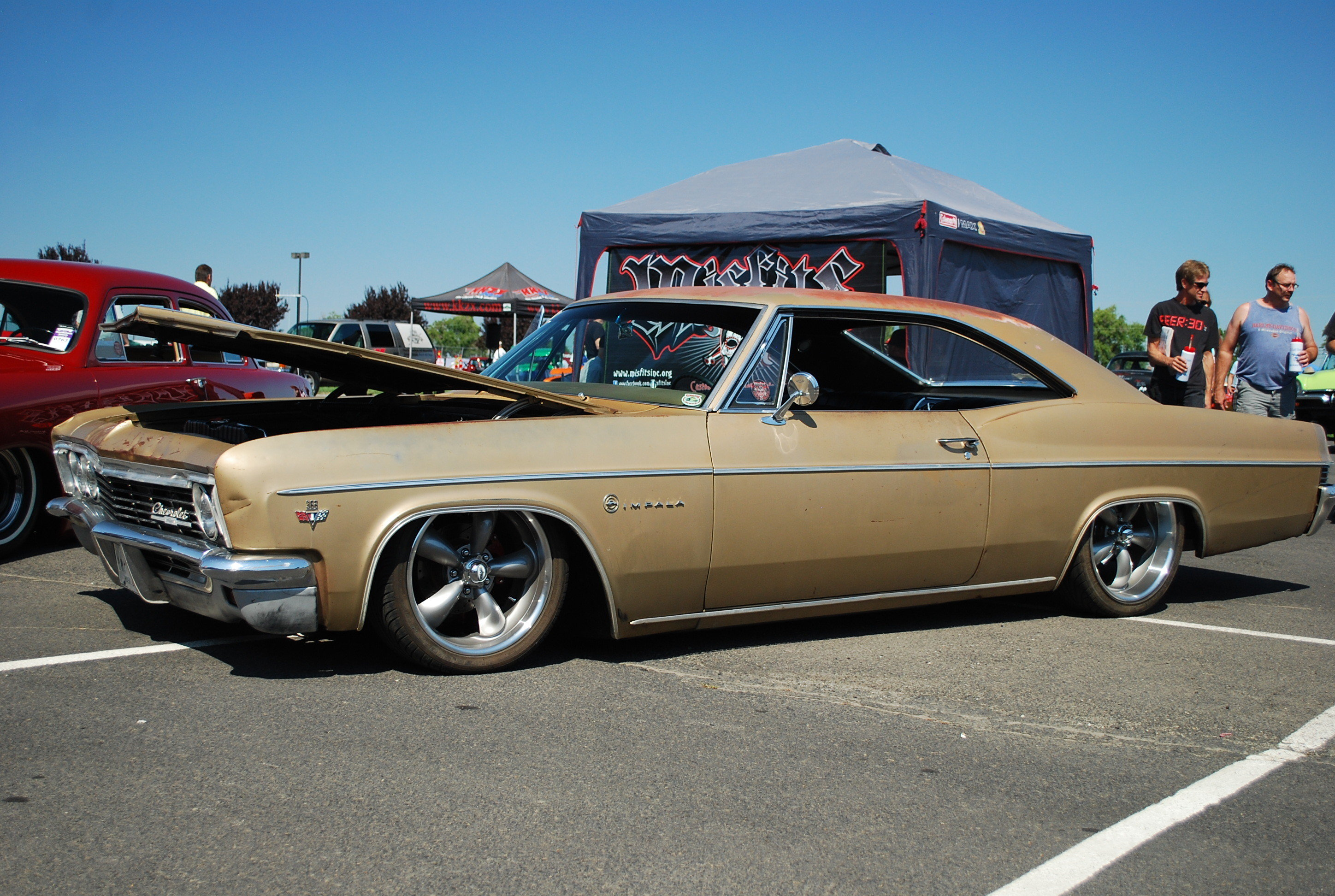 Fantastic stance on this 1966 Impala spotted in Spokane, Wa.