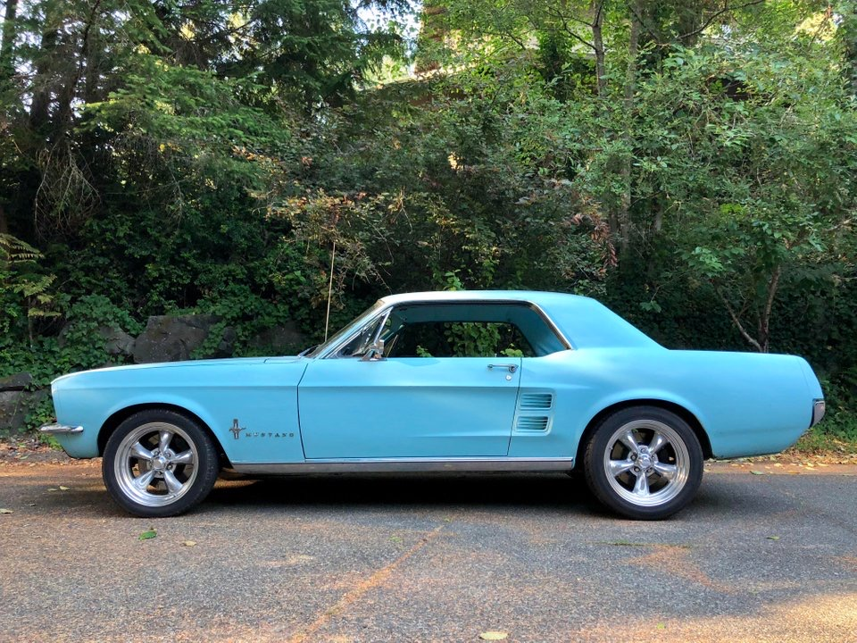 1967 Mustang Frost Turquoise
