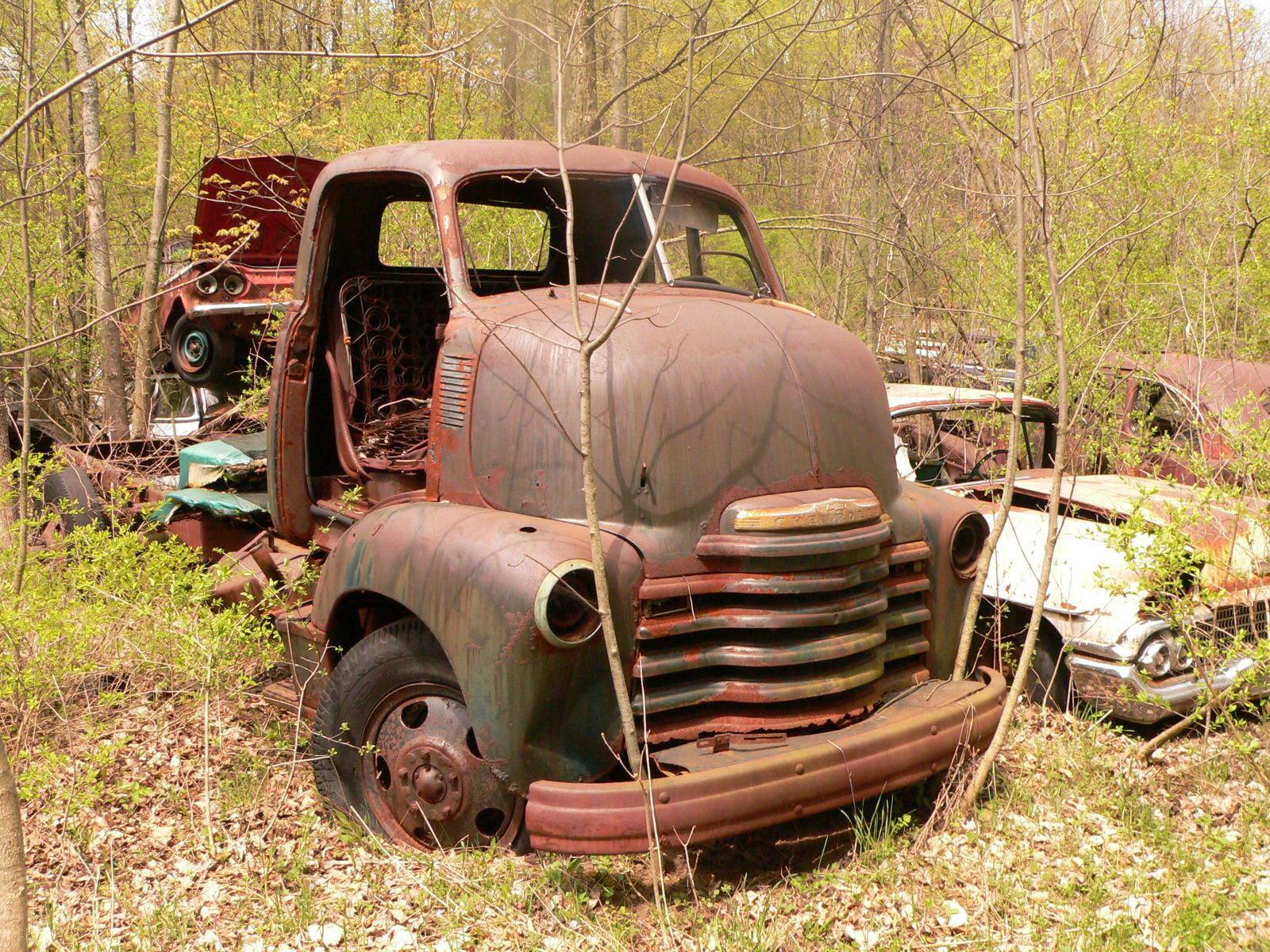 abandoned classic truck