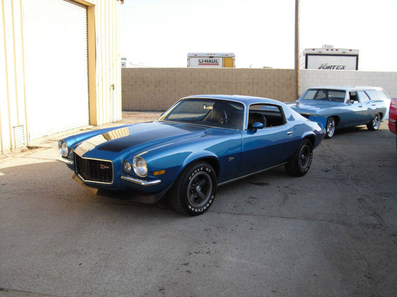I Love The Blue Color On This 71 Split Bumper Camaro