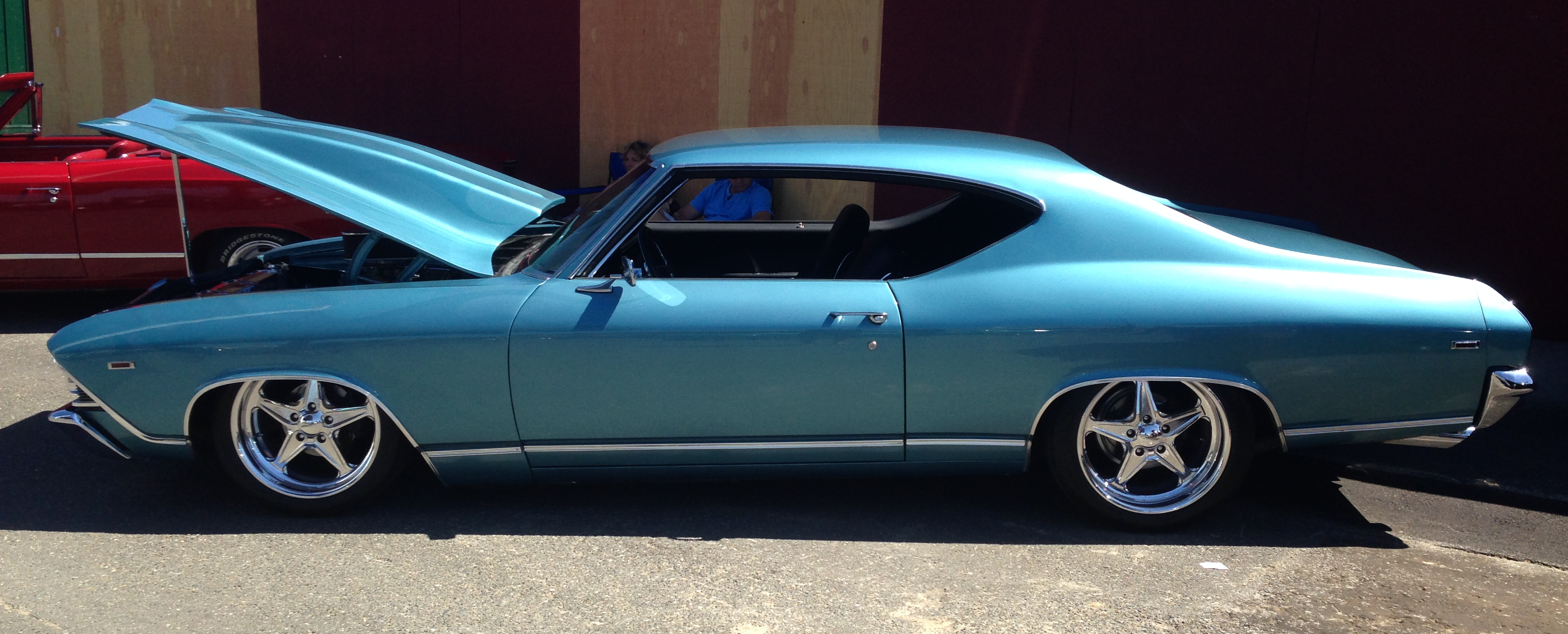 Light Blue Pro Touring Chevelle PIC