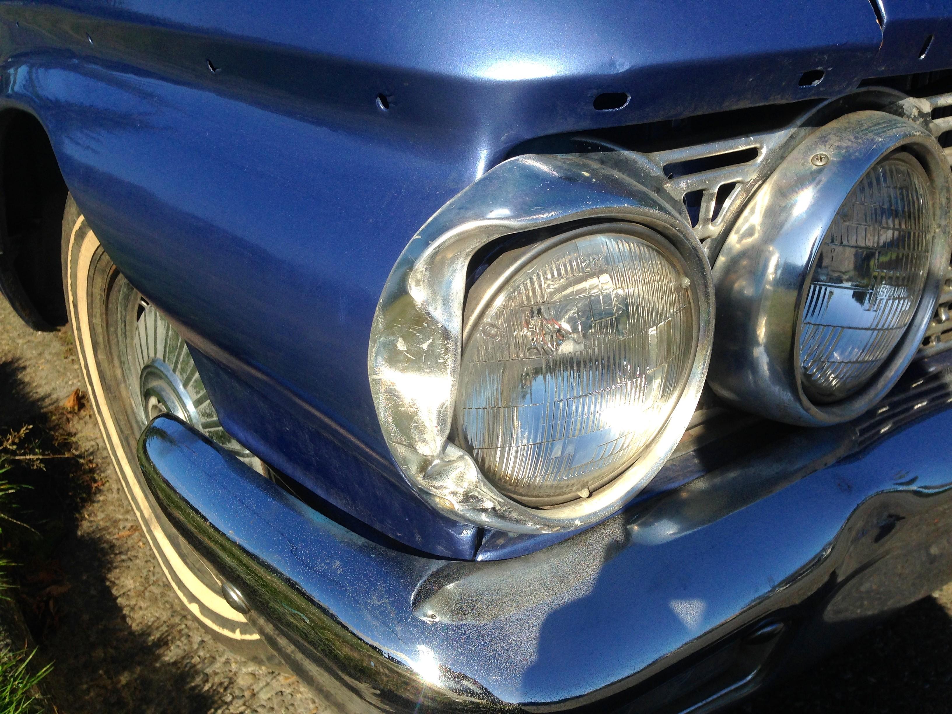 1962 Galaxie outer headlight bezel