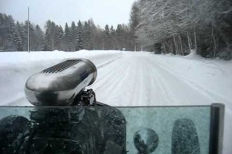 Crazy Dude is Rallying His '34 Ford Hot Rod In The Snow!