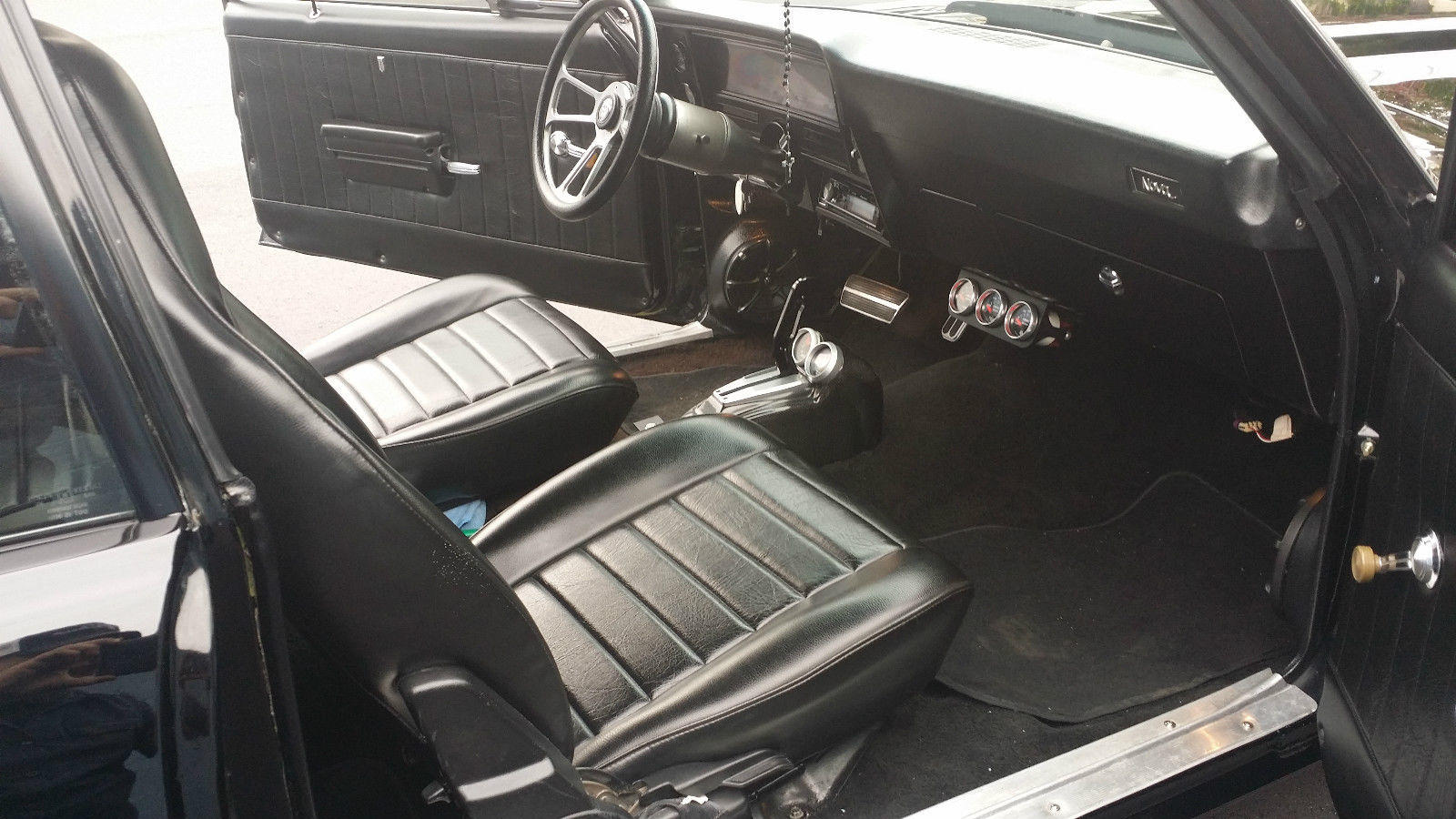a 1969 chevy nova with murdered out pro touring treatment. Black Bedroom Furniture Sets. Home Design Ideas