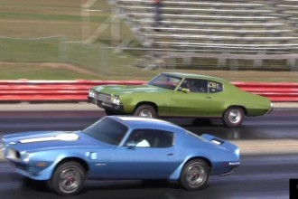 Buick GS 455 Stage 1 vs Pontiac Trans Am 455 in a Quarter Mile Shootout!