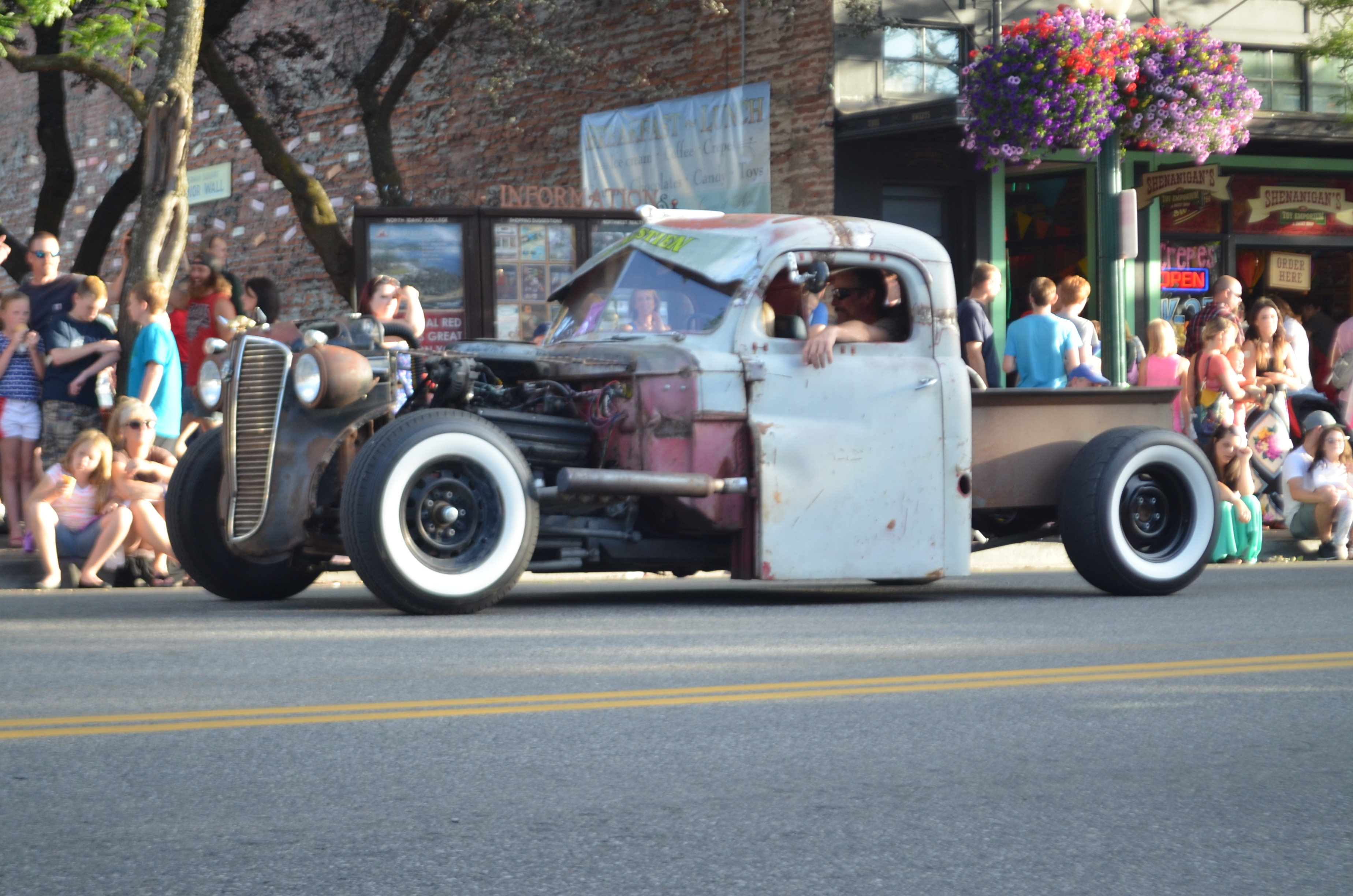 Spotted this rat rod in downtown Coeur d'Alene, ID