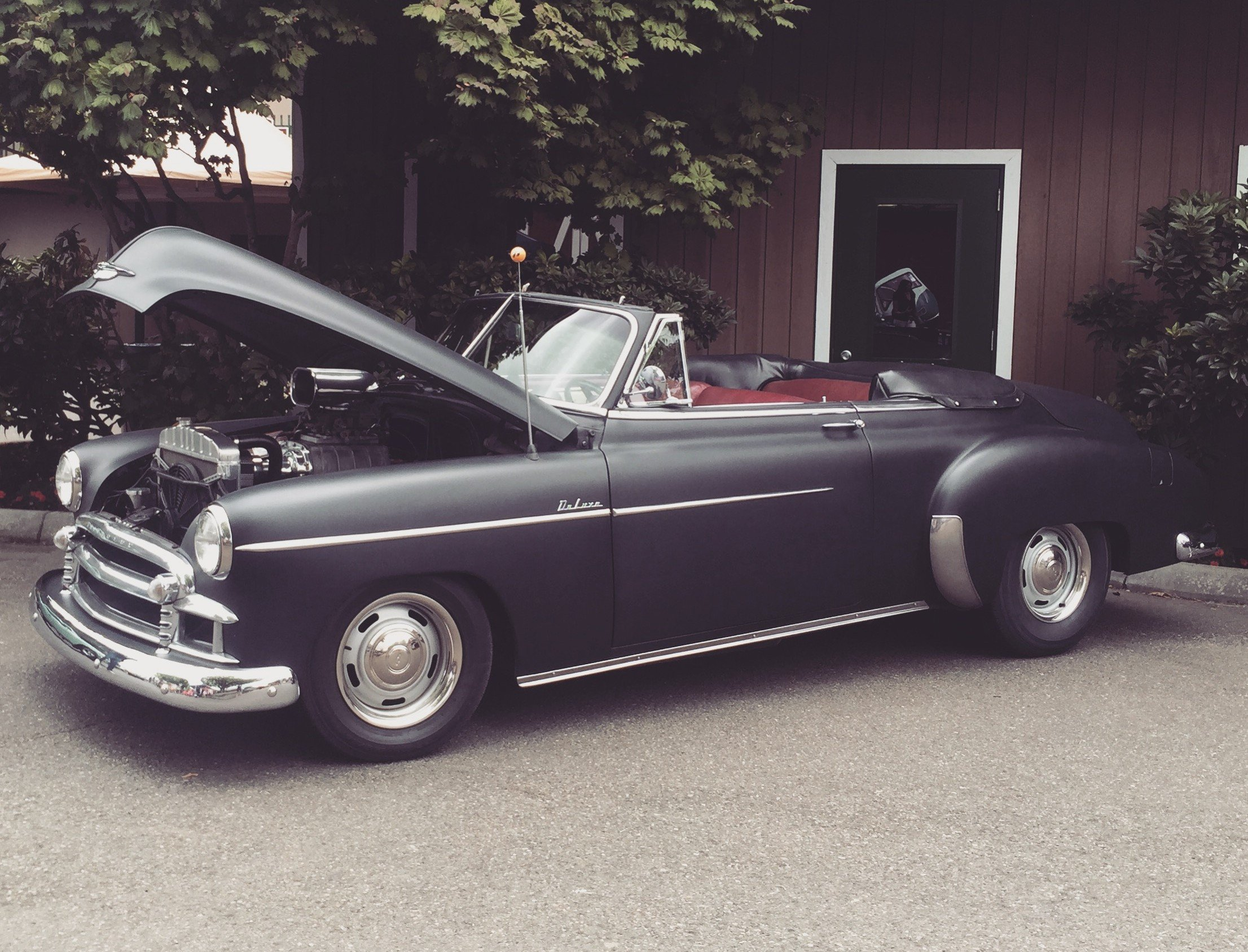 This Classic Chevy Deluxe Convertible Packs a Punch with A Blown Big Block and Rally Wheels