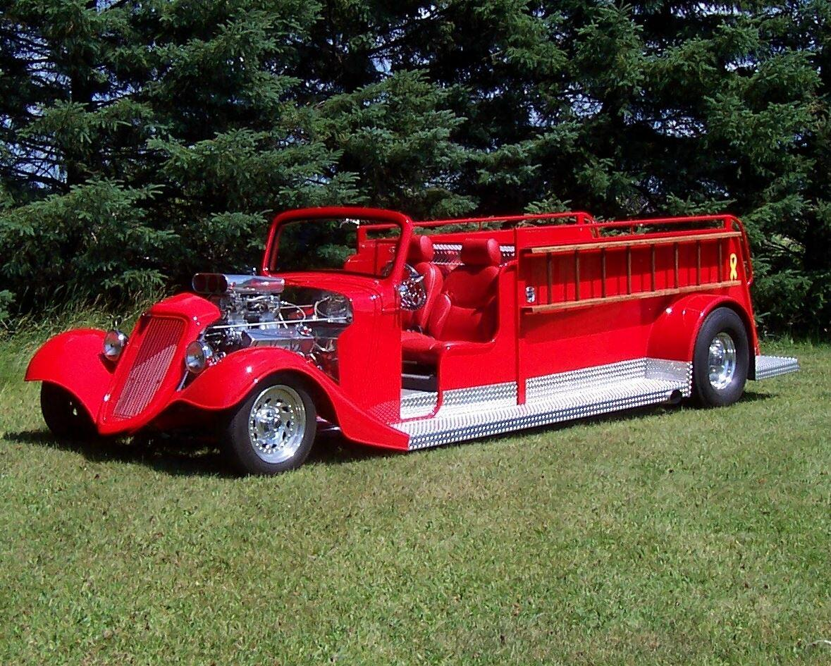 Custom 1935 Ford Hot Rod Fire Truck
