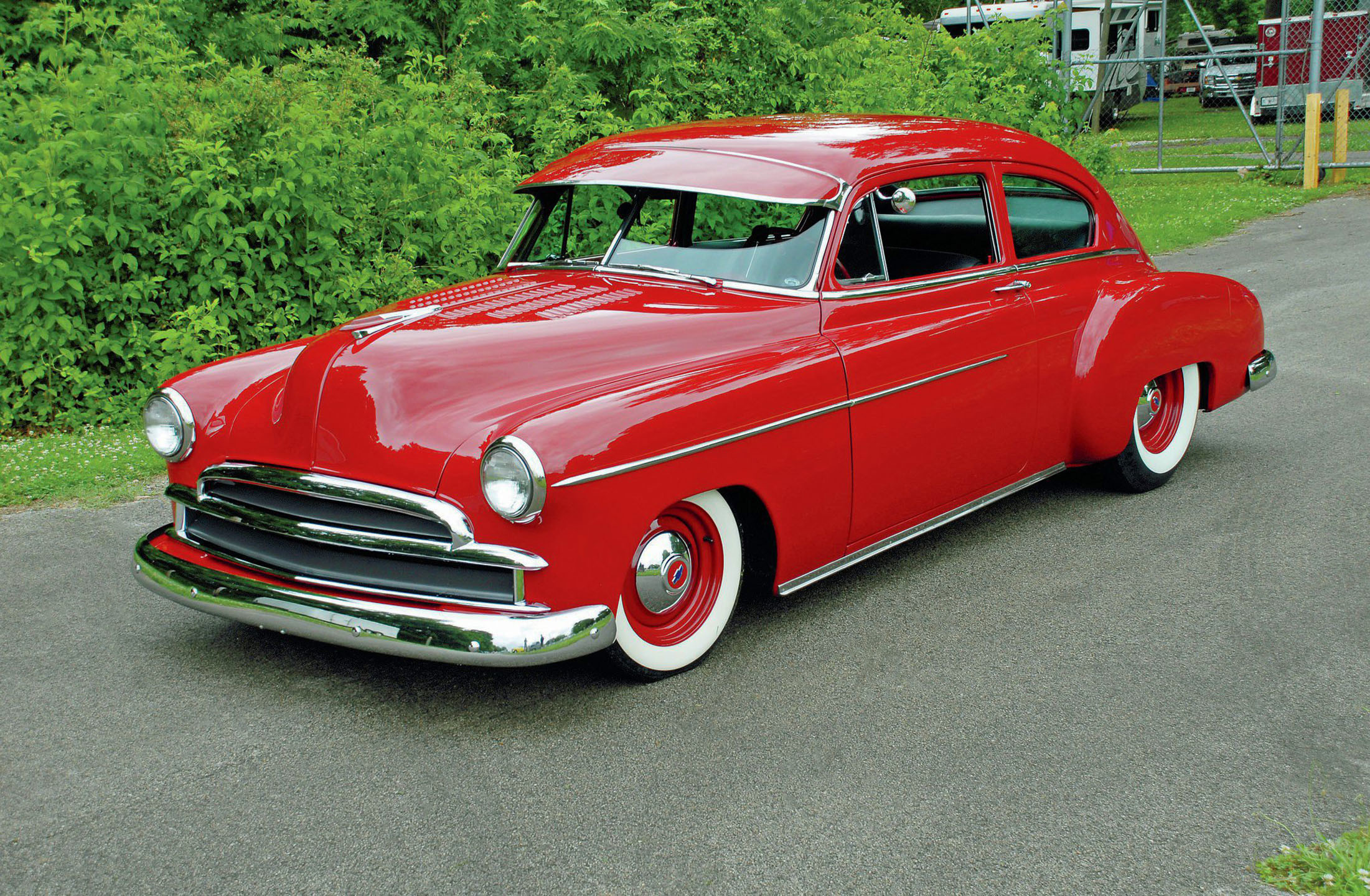 Beautiful Red 1949 Chevrolet Fleetline