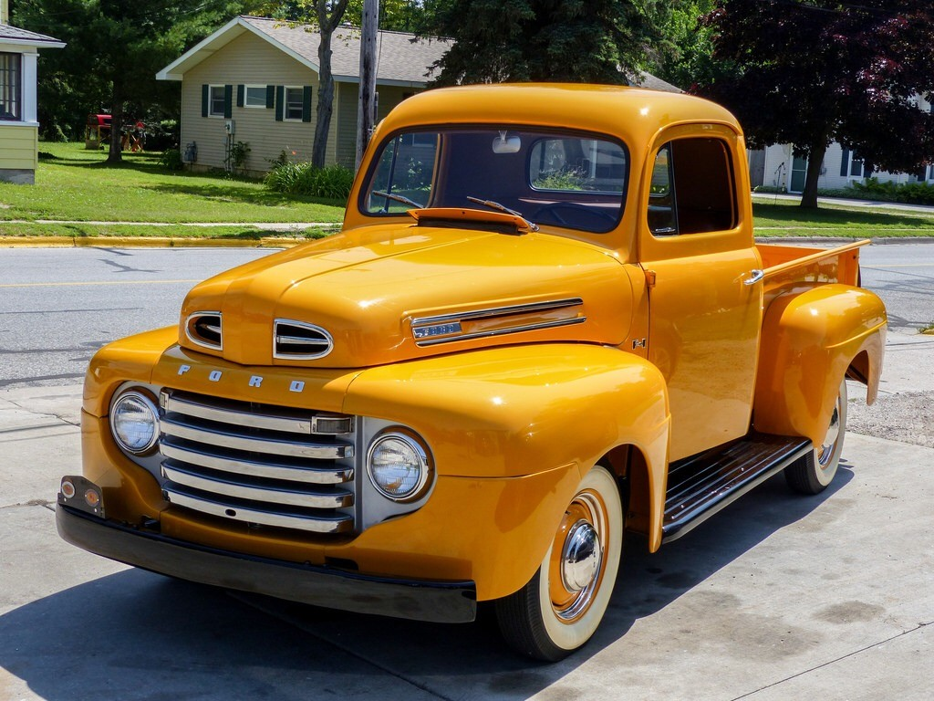 This classic 1948 Ford pickup is as clean as they get
