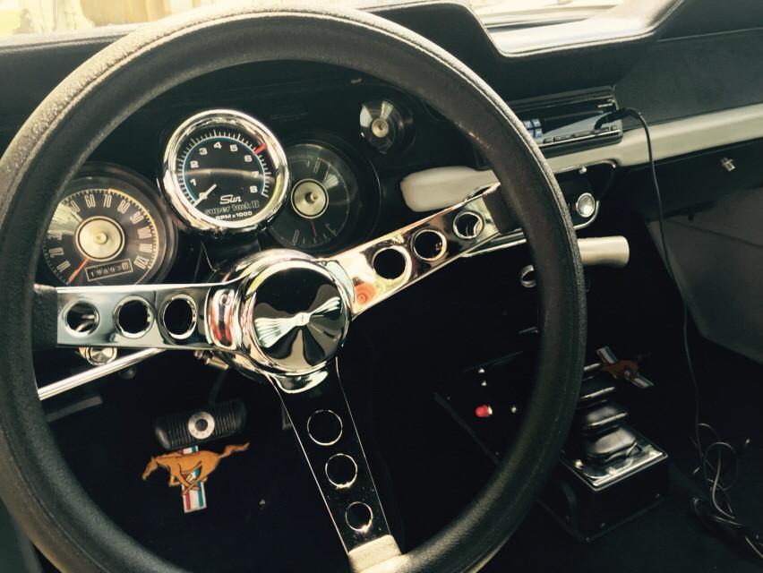 1967 mustang steering wheel custom