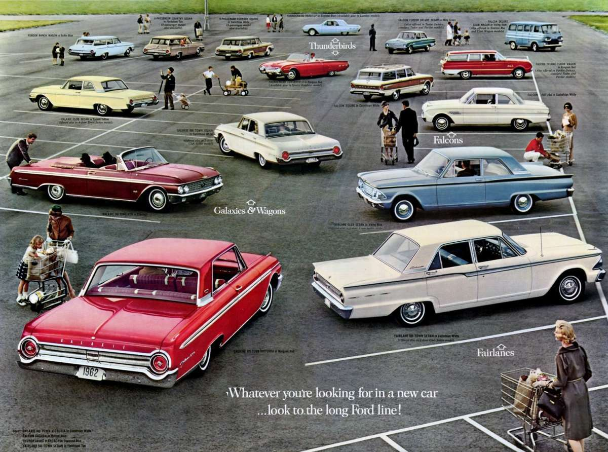 1962 Ford Model Lineup