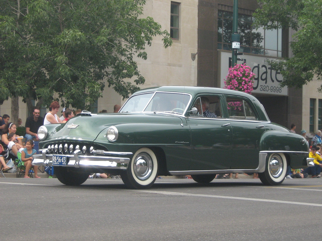 The 1952 DeSoto Custom has a beautiful boxy roofline