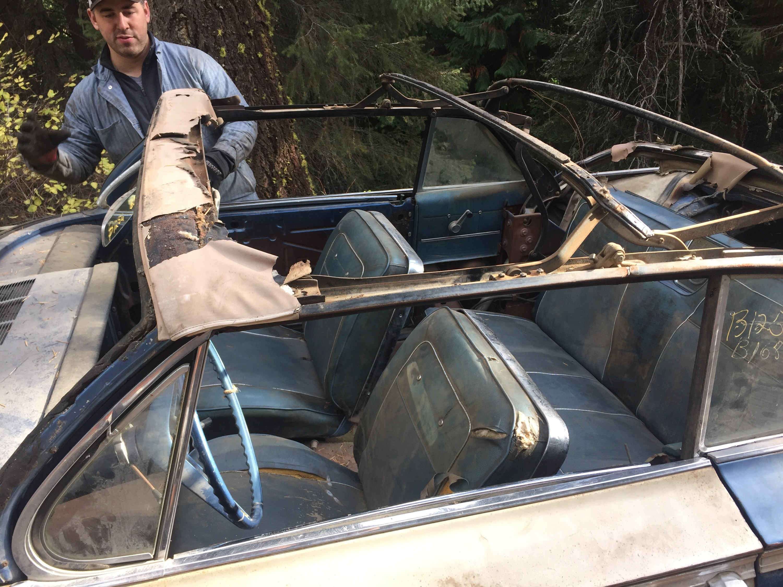 Barn Find 1962 Impala SS Convertible Interior