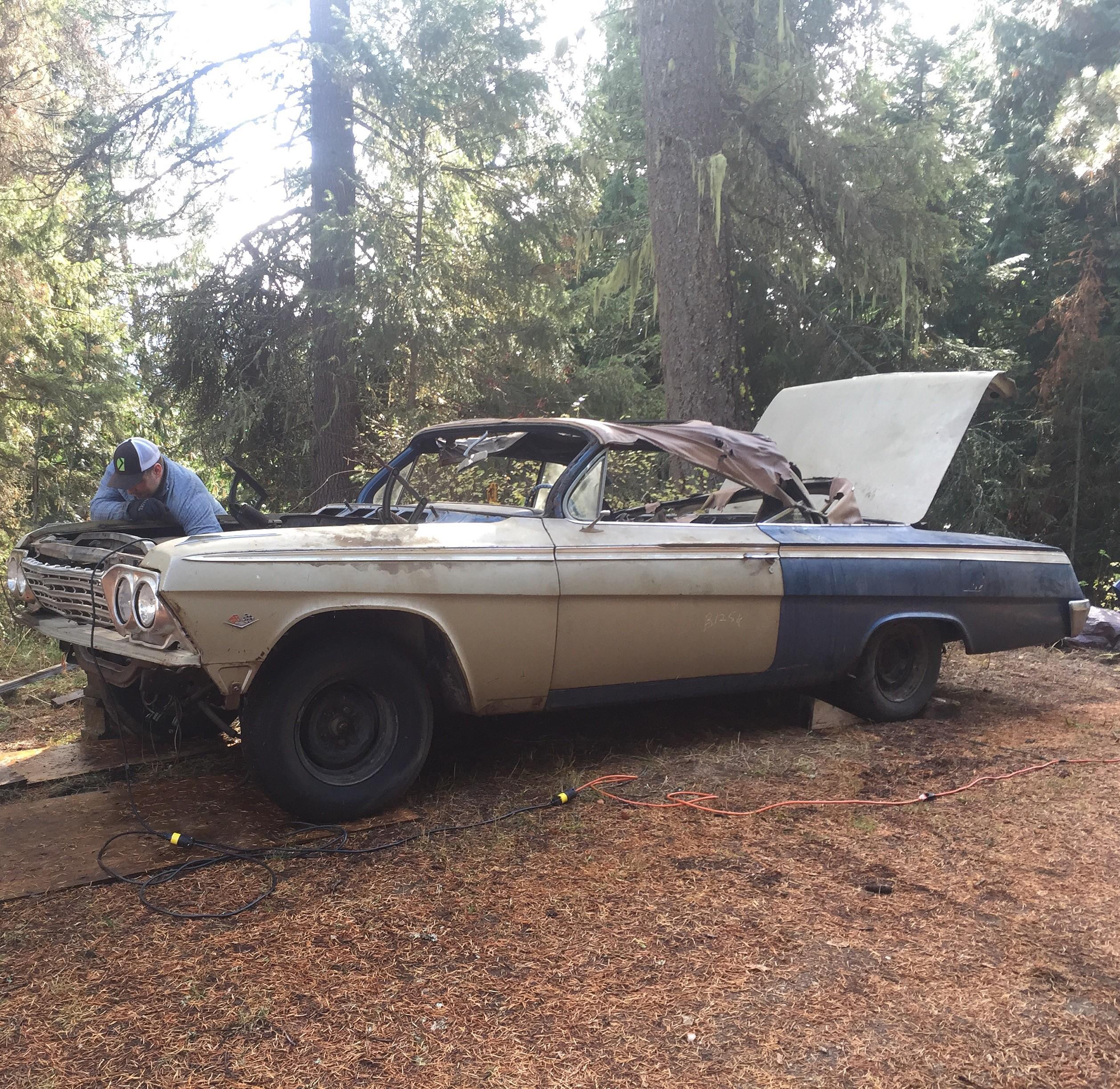 Barn Find 1962 Impala SS Convertible Barn Find