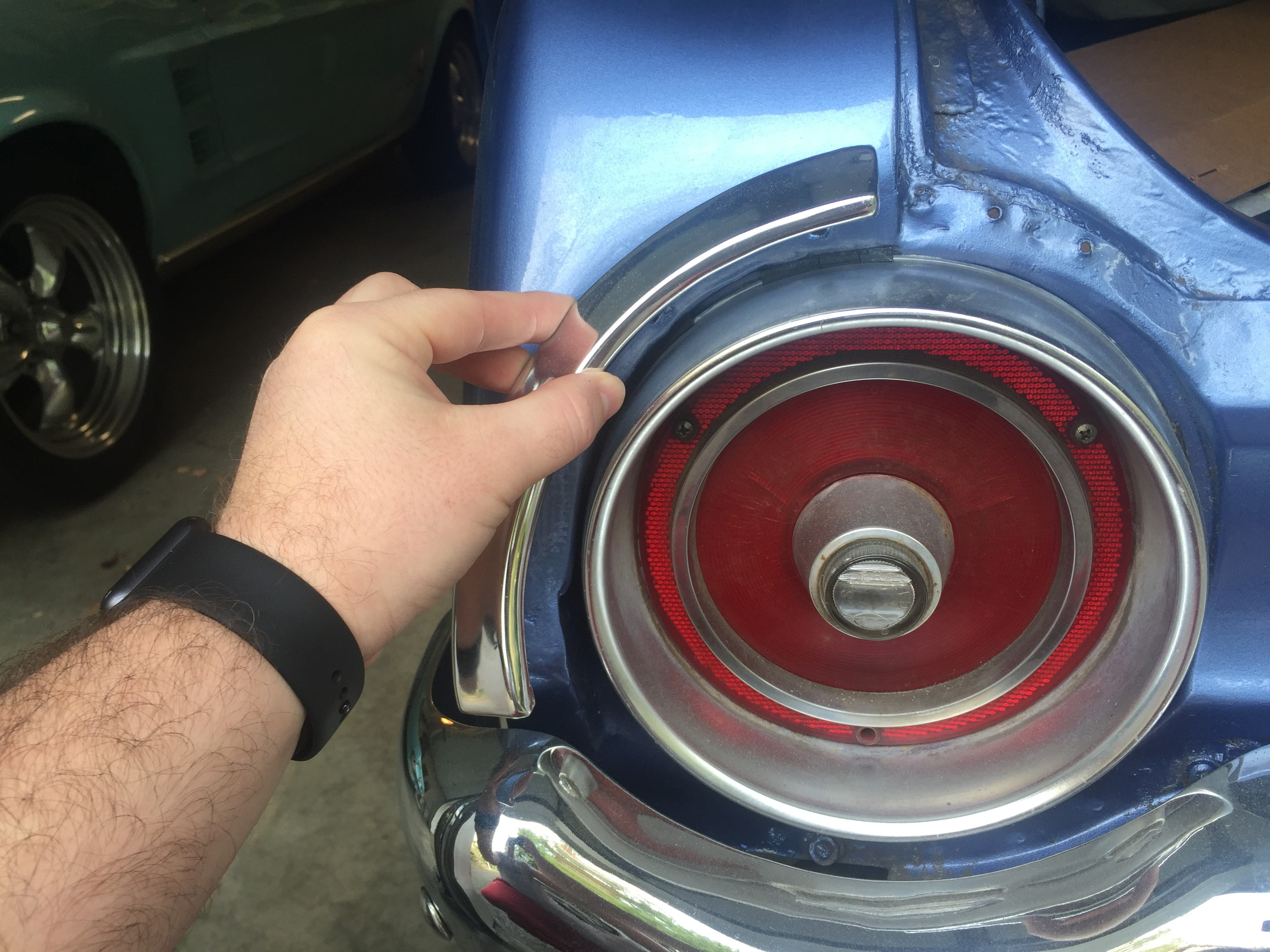 1962 galaxie rear quarter molding