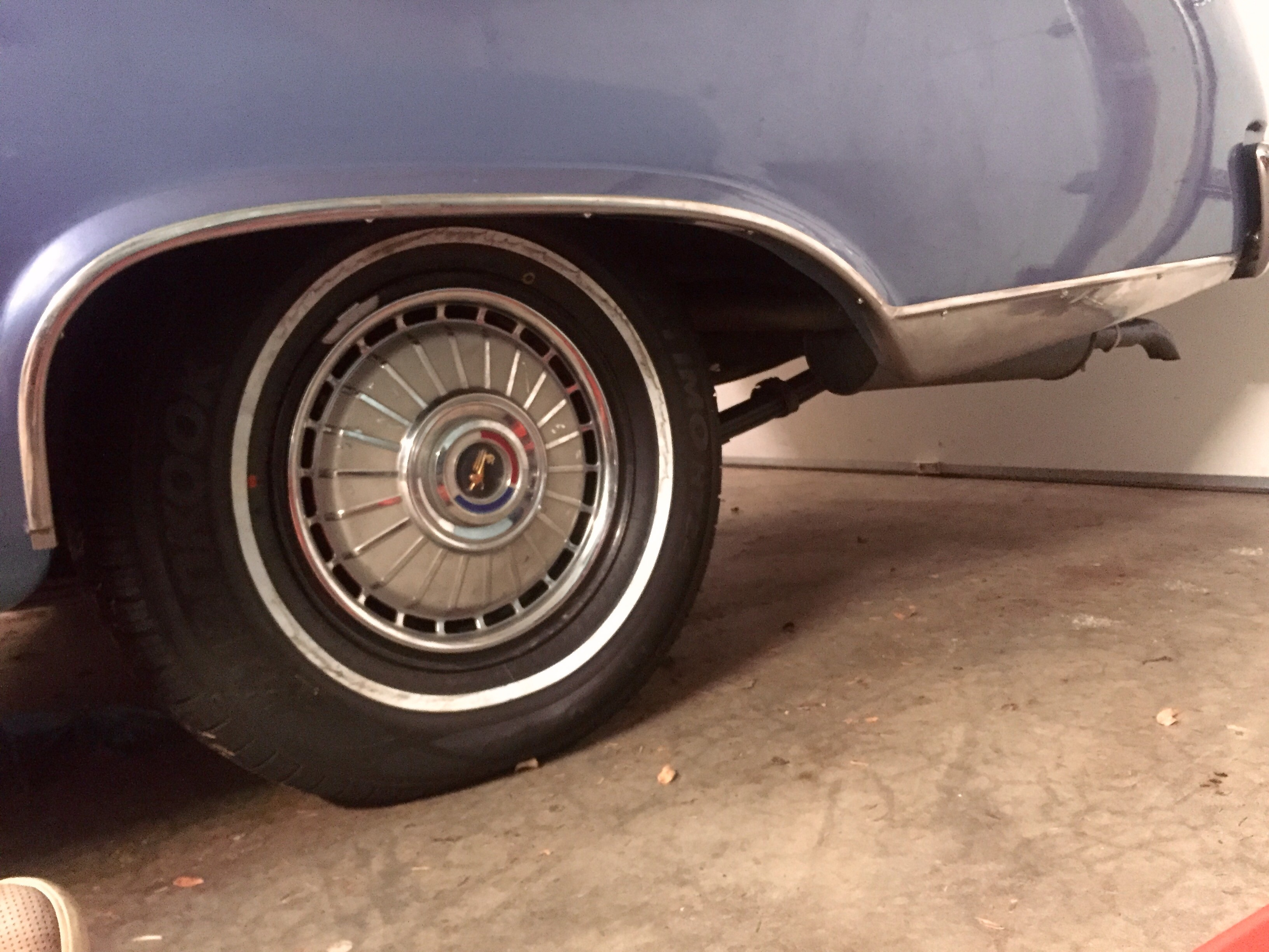 1962 Galaxie wheel well molding and rear rocker panel trim