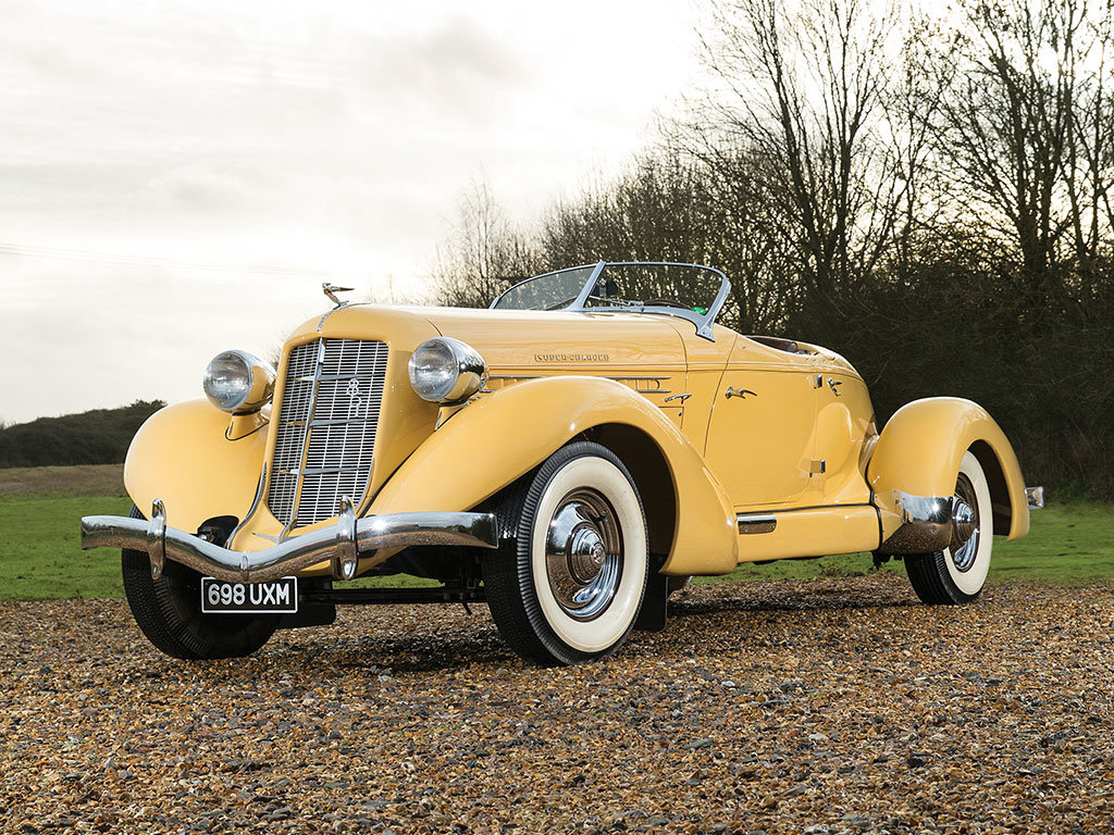 Gatsby Style 1935 Auburn Eight Supercharged Speedster is pure elegance