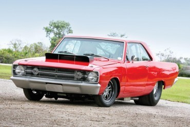 This '68 Dodge Dart appears ready for drag racing. Are there any visible components that would make it illegal for the street?
