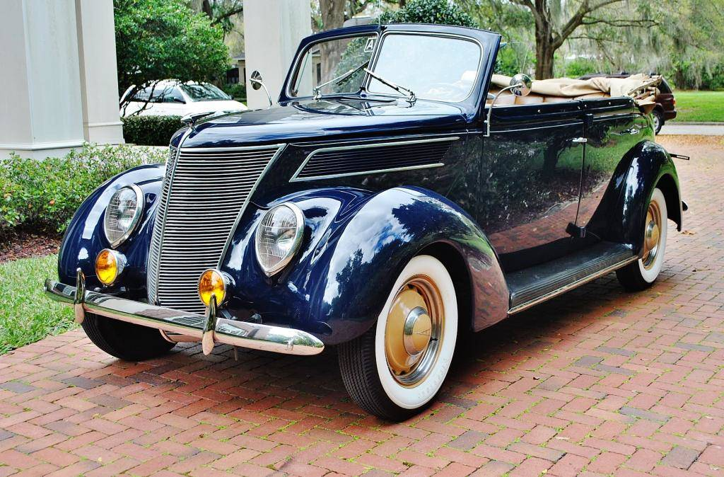 Pure Elegance with this restored and period-correct 1937 Ford Phaeton 4 door Convertible