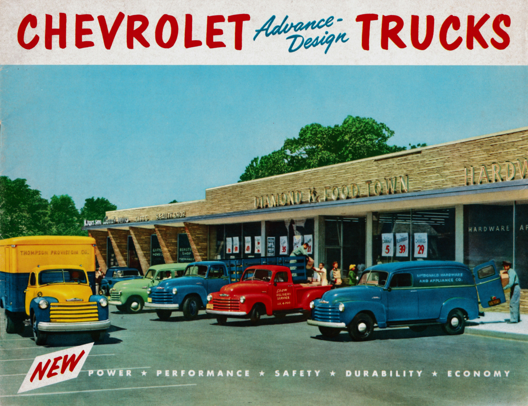 1953 Chevrolet Truck Advanced Design Brochure