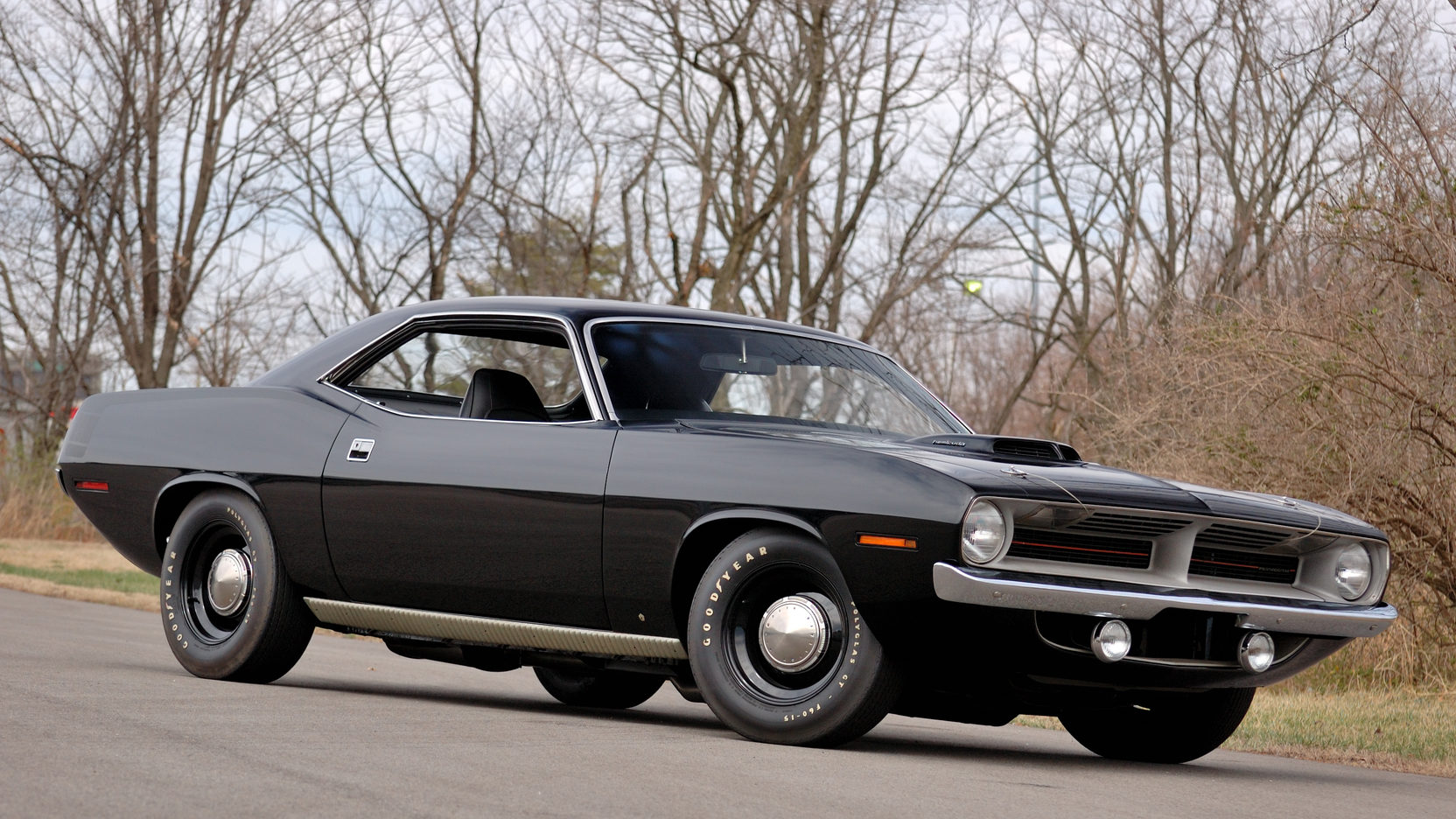 Black on black 1970 HEMI Cuda