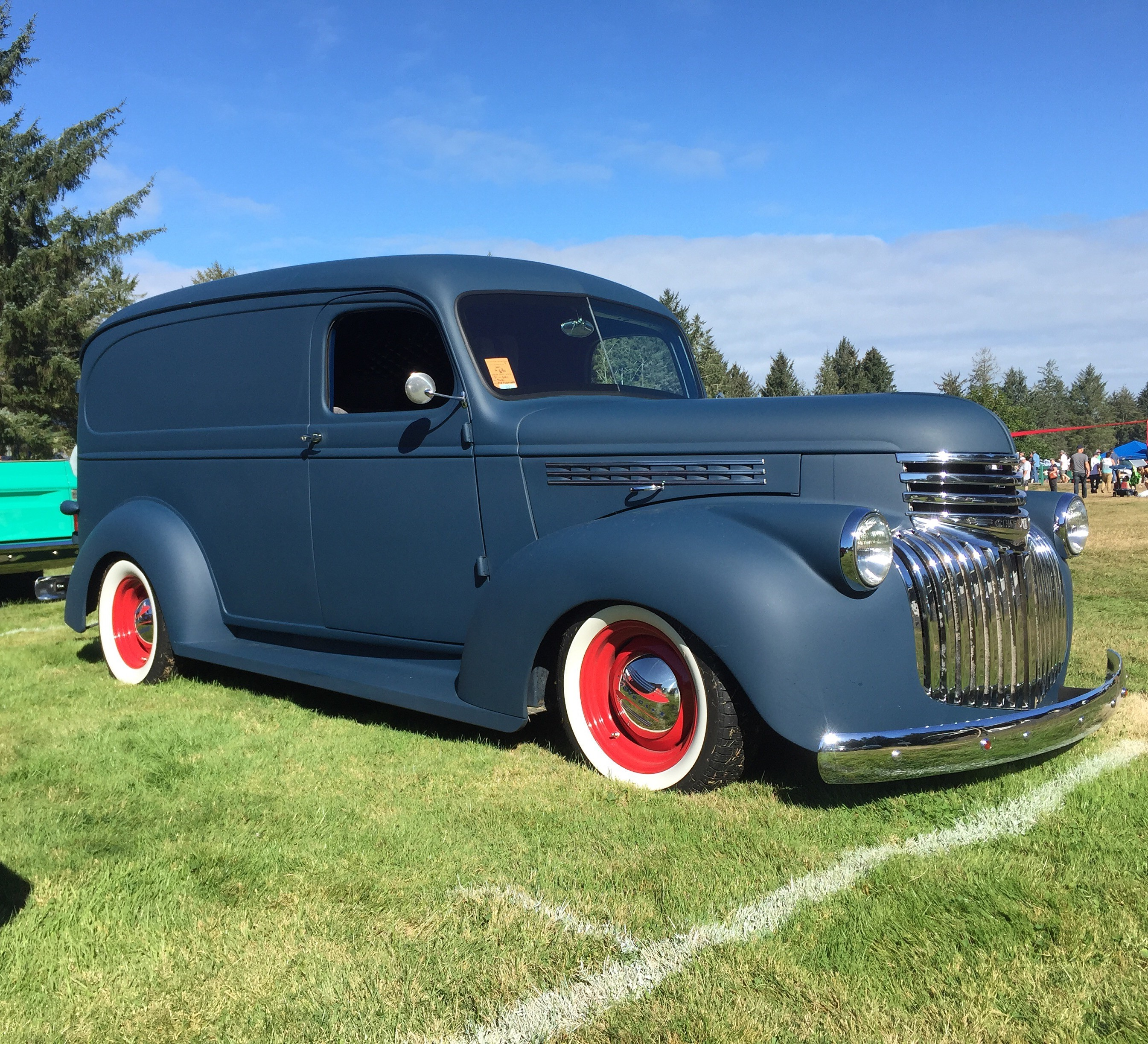 Beautiful hotrod sedan delivery at the Rod Run to the End of the World