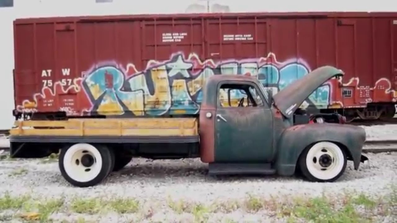 Slammed Chevy 6400 Flat Bed Hot Rod