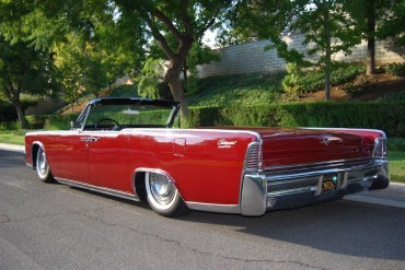 US production only 1965 Lincoln Continental convertible with factory suicide doors.