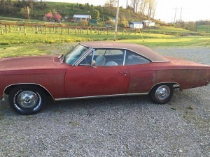 1968 Plymouth Satellite sport hardline PROJECT (KY) – $5,900