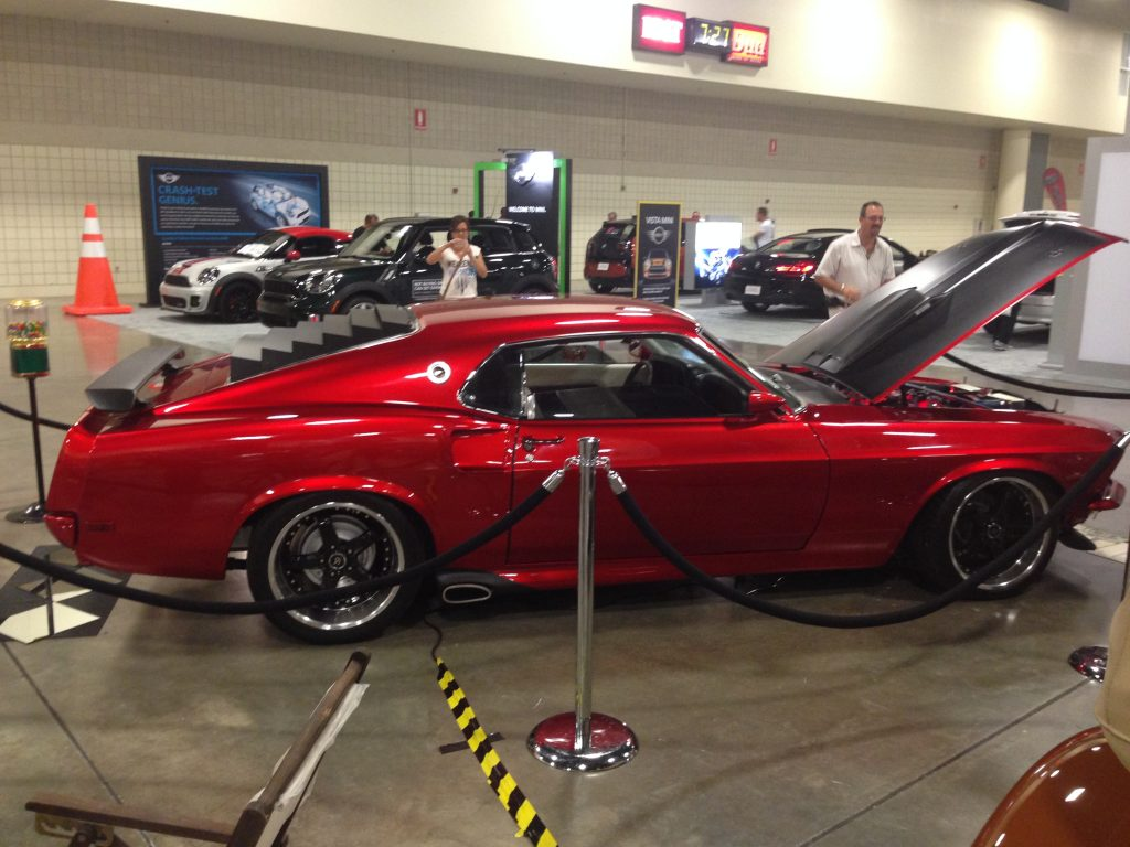 Custom 1969 Ford Mustang in a show
