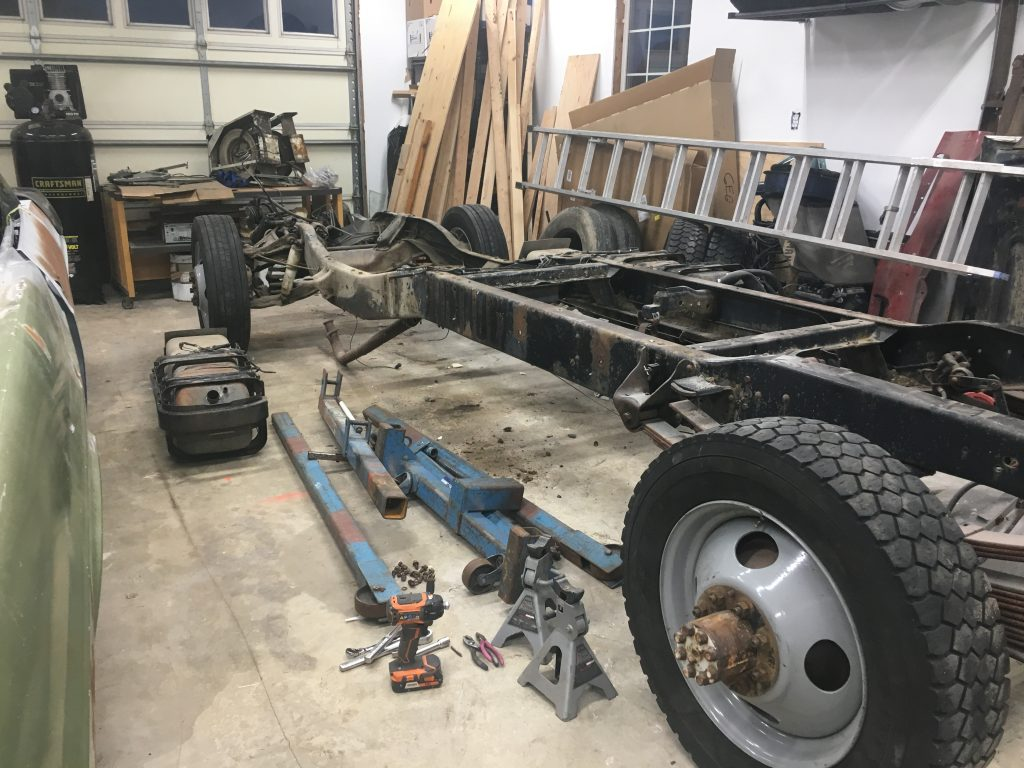 1951 Chevy 3800 Dually Chassis Swap Frame Shortening 3100 Truck Frames Original 1982 1 Ton