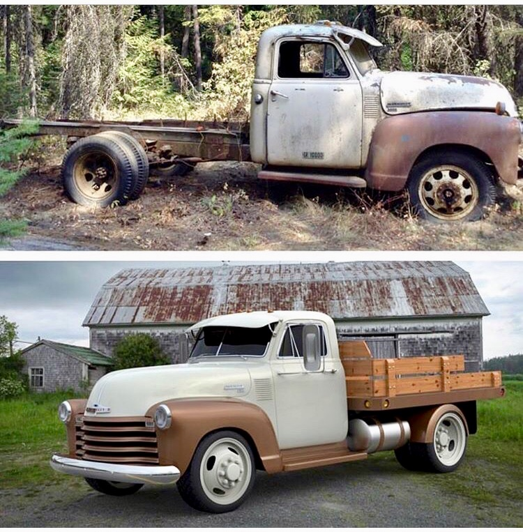 1951 Chevy 3800 Dually Chassis Swap- Frame Shortening