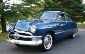 1950 Ford Custom Deluxe Sedan $21,900