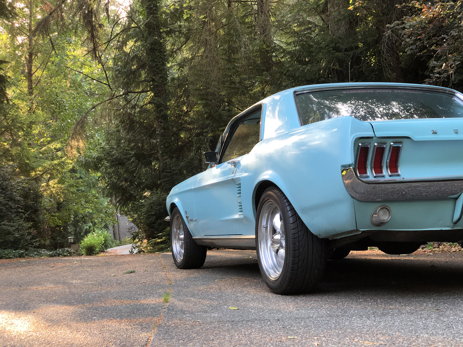 frost turquoise 1967 mustang