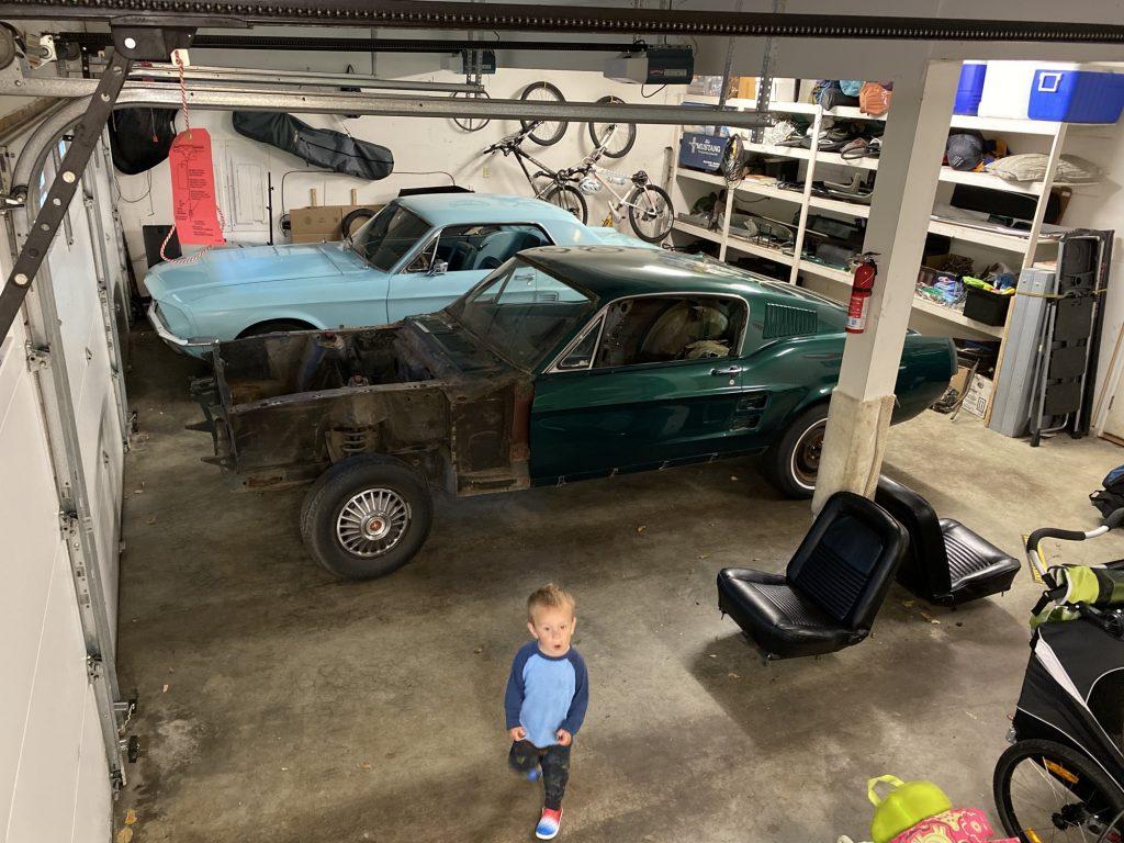 Two '67 Mustangs