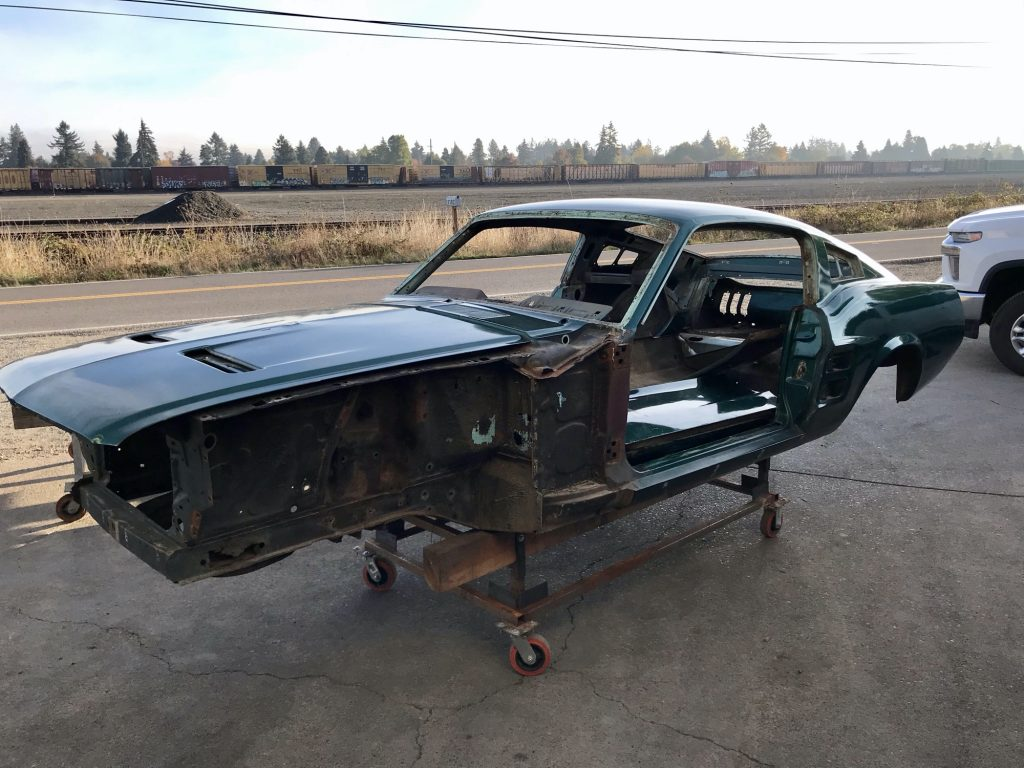 Mustang Fastback Project ready for an acid dip